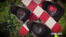 Un crashtest entre un train et une voiture pour sensibiliser au franchissement de passages à niveau