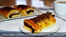 Chocolate-Filled Croissant (Pain au Chocolat) - Easy Puff Pastry Dessert Recipe