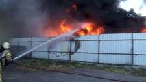 Sarıyerde fabrika yangını   Fabrika alev alev yanıyor