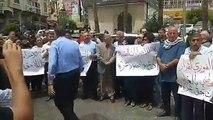 #مباشر وقفة في رام الله للمطالبة برفع العقوبات عن غزة تصوير: جهاد بركات