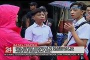 Mga jeepney driver na 'di nagbibigay ng tamang discount sa mga senior citizen, PWD at estudyante, huli