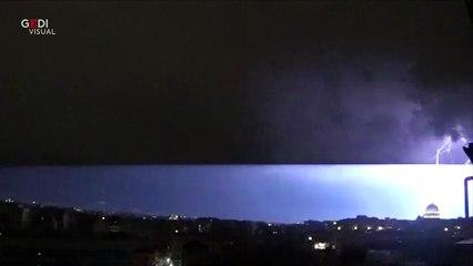 Fulmine in San Pietro (7-8 giugno 2018)