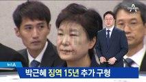 검찰, '특활비·공천개입' 박근혜에 징역 15년 구형