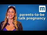 Parents-to-be talk pregnancy