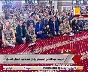 3828b7730b0ef أسامة الأزهرى يلقى خطبة عيد الفطر المبارك بحضور الرئيس السيسي وأبناء الشهداء
