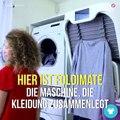 Wieviel Zeit investieren wir zum Zusammenlegen der sauberen Kleidung? Definitiv zu viel. Aber mit dieser Maschine müssen wir keinen Gedanken mehr daran verliere