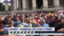 Les fans se massent devant la Madeleine pour rendre hommage à Johnny