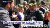 Les fans sont venus rendre hommage à Johnny à la Madeleine