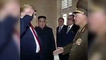 El saludo más embarazoso de Trump con un militar norcoreano