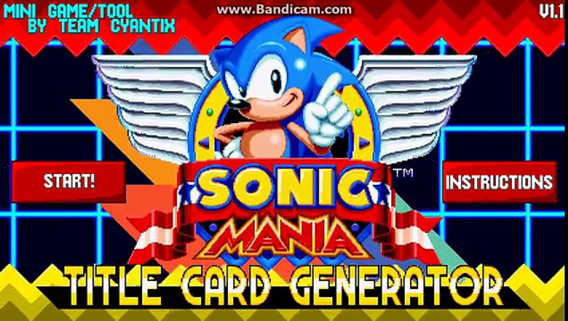 SONIC MANIA TITLE CARD GENERATOR - SONIC EXE EASTER EGG