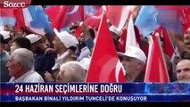 """Başbakan Binali Yıldırım, Tunceli'deki mitinginde, """"Tamam mı"""" diye seslendi."""