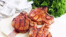"""Make Dad super happy this weekend with these life changing pork chops! Every time I make them for guests they are blown away and say """"This is the best pork chop"""