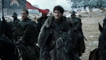 Game of Thrones season 6 ep 9 Battle of the Bastards (part 1) Ramsay Bolton and Jon Snow