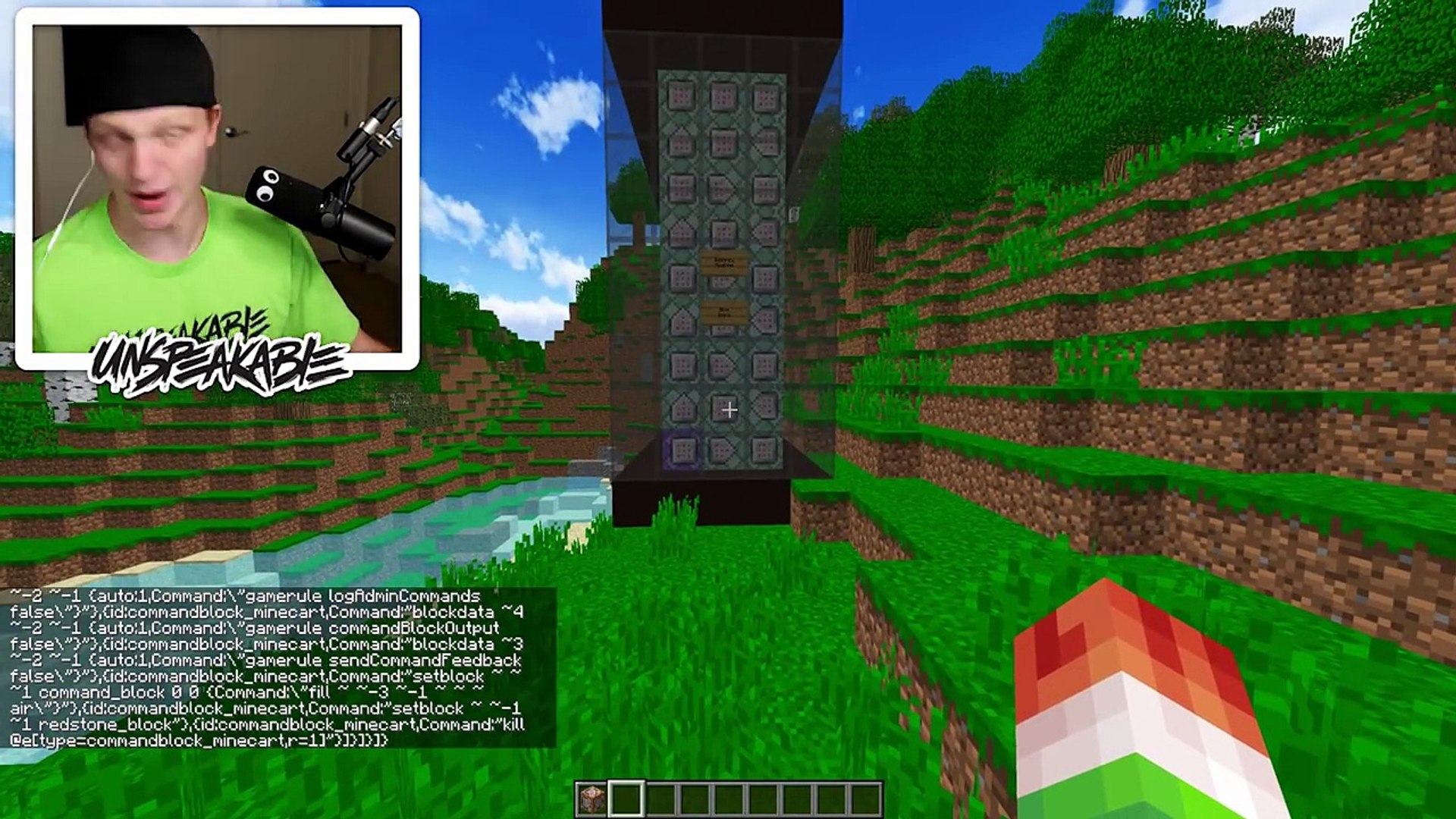 How To Build A Secret Bedrock Base Easy Dailymotion Video