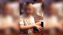 Des parents font boire un bière cul-sec à leur enfant et le filment