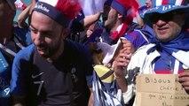 Franceses comemoram vitória suada