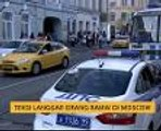 Teksi langgar orang ramai di Moscow