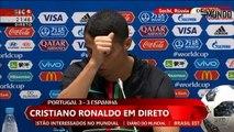 Cristiano Ronaldo e Fernando Santos Conf de Imprensa - Portugal 3 x 3 Espanha - MUNDIAL 2018