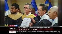 UASD otorga título Profesor Honorario al artista Pericles Mejía