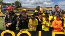 Ulrich Ramé rencontre les jeunes au tournoi international de foot