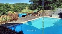 QUERCY - PROCHE MONTCUQ - Maison en pierre avec piscine et 1.37 hectare, belles vues