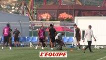 Dernier entraînement des Belges - Foot - CM - BEL