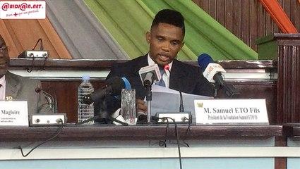 """En visite au parlement ivoirien, Samuel Eto'o, """"Je rêve d'une Afrique portée par la jeunesse"""""""