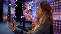 La Fontane Umane- Men Spit Water And Swap Spit With Tyra Banks - America's Got Talent 2018