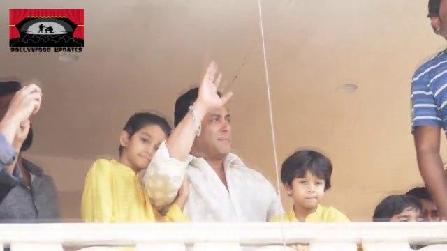 सलमान  ने मनाई अपने फैंस के साथ ख़ास तरीके से ईद  - घर के बहार लोगो की भीड़ !