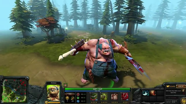 Dota 2 Pudge Most Expensive Mix Set (262$) w/ Dragonclaw Hook  - Rotten Stache
