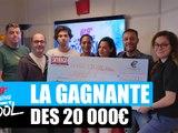 Lahicia repart avec son chèque de 20 000 ¤ dans le Morning de Difool !