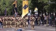 Video Azov regiment military parade in Mariupol