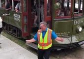 New Orleans Streetcar Driver Boogies in Traffic