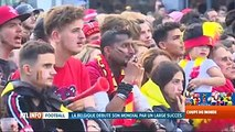 Mondial 2018: liesse des supporters après la victoire des Diables Rouges