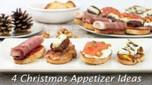 4 Christmas Appetizer Ideas - Quick & Easy Crostini Recipes