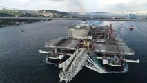 Dünyanın En Büyük İnşaat Gemisi Pioneering Spirit 15 Temmuz Şehitler Köprüsü'nün Altından Böyle...
