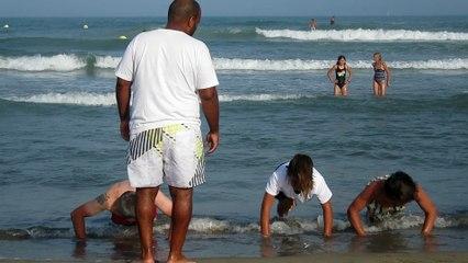 Judo plage, tous à l'eau!