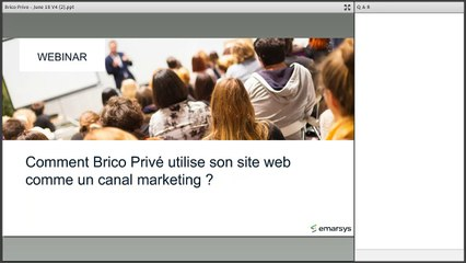 [Webinar] Transformez votre Site Web en Canal Marketing - Emarsys