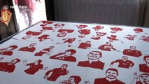 How many famous footballers can you recognise? Chinese papercut artist puts your knowledge to the test