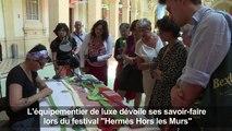 À Lyon, Hermès dévoile ses savoir-faire au public
