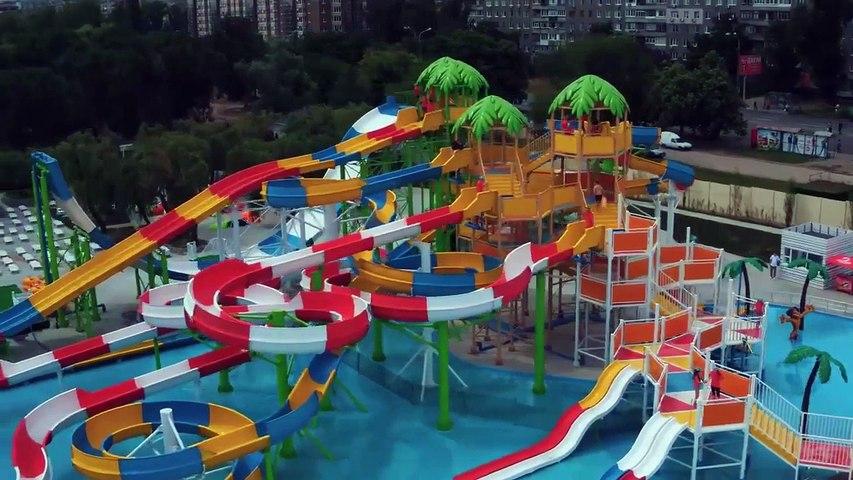 Аквапарк Happy Day, Днепр. Как выглядит аквапарк на Набережной Победы с высоты