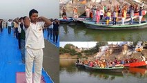 अंतर्राष्ट्रीय योग दिवस: गंगा की रेत और नाव पर किया लोगों ने योग