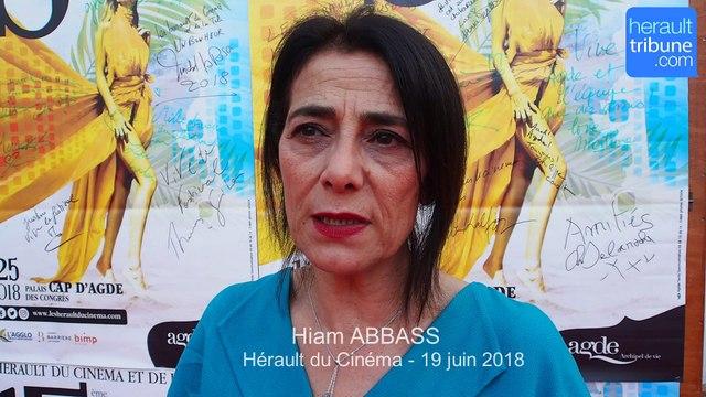CAP D'AGDE : Interview de l'actrice franco-palestinienne Hiam ABBASS