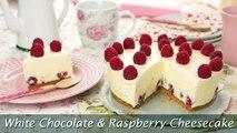 White Chocolate & Raspberry Cheesecake - Easy No-Bake Cheesecake Recipe