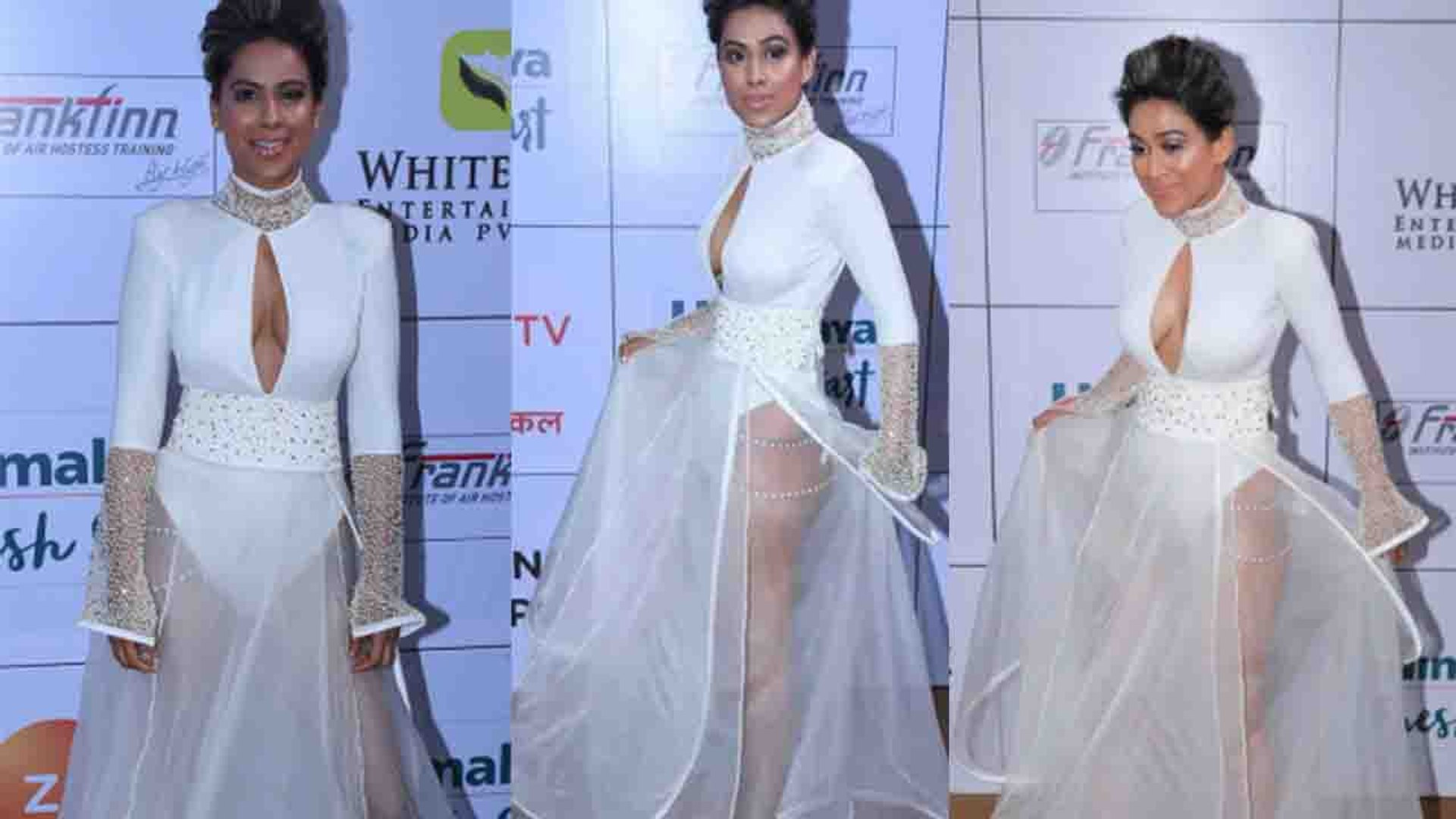 Gold Awards 2018: Nia Sharma's Fashion Disaster in TRANSPARENT white dress। FilmiBeat