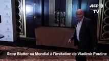 """Blatter ne se sent """"pas rejeté"""" par le monde du football"""