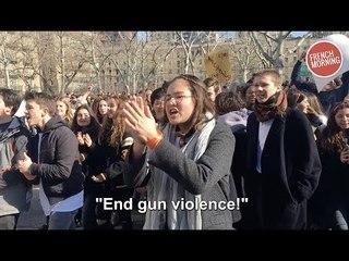 Les élèves du Lycée Français manifestent pour le contrôle des armes à feu à New York