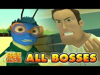 Bee Movie All Bosses (PS2, X360, PC) - Featuring Barry the Dragonfly