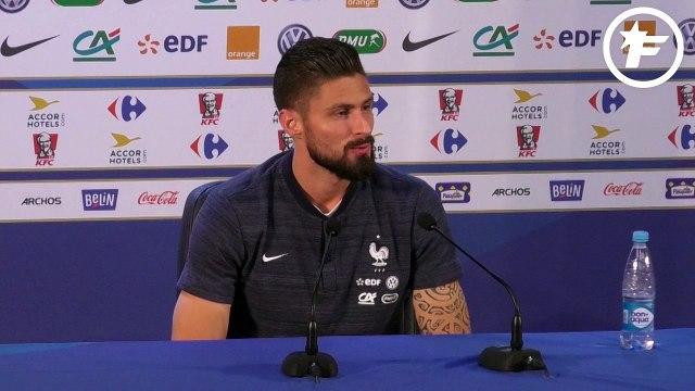 Olivier Giroud et le coup de pompe d'Antoine Griezmann