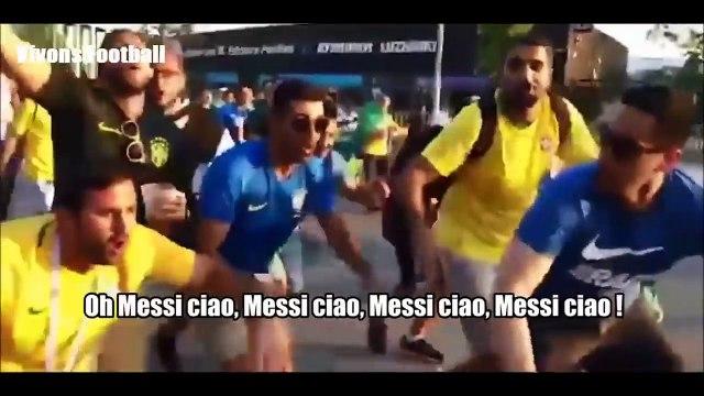 """Les supporters brésiliens remix Bella Ciao en """"Messi ciao"""" (Mondial 2018)"""